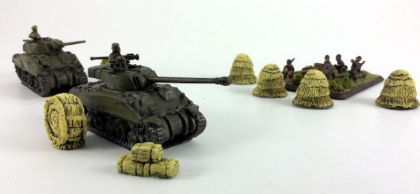 Review: 15mm Hay Stacks and Bales by 6 Squared Studios