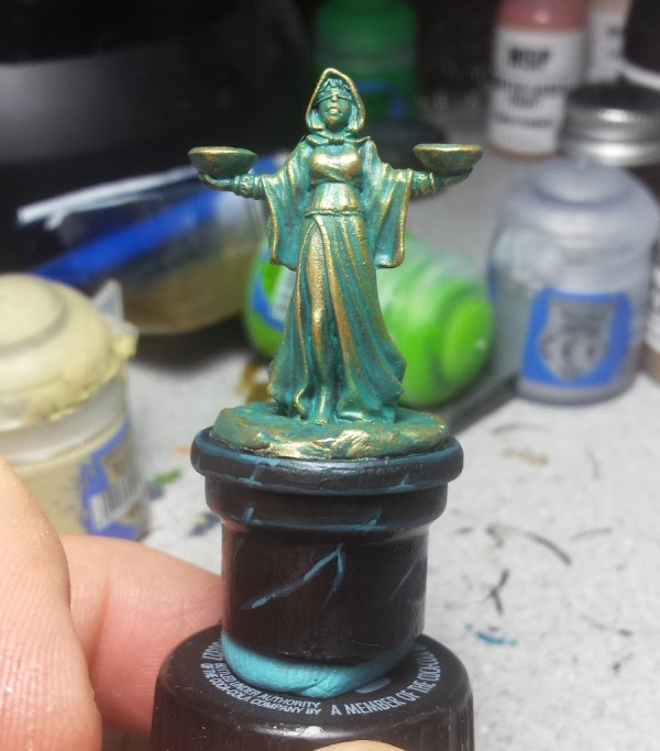 Painting Weathered Brass