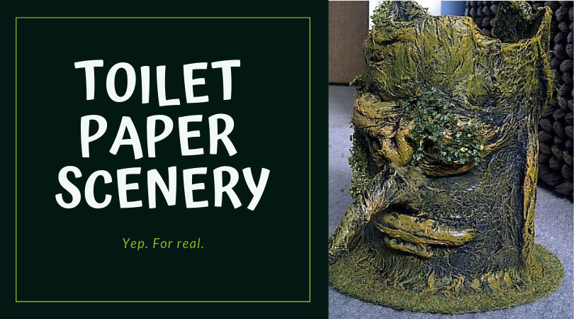 Making Scenery Out of Toilet Paper for Your Wargaming Table