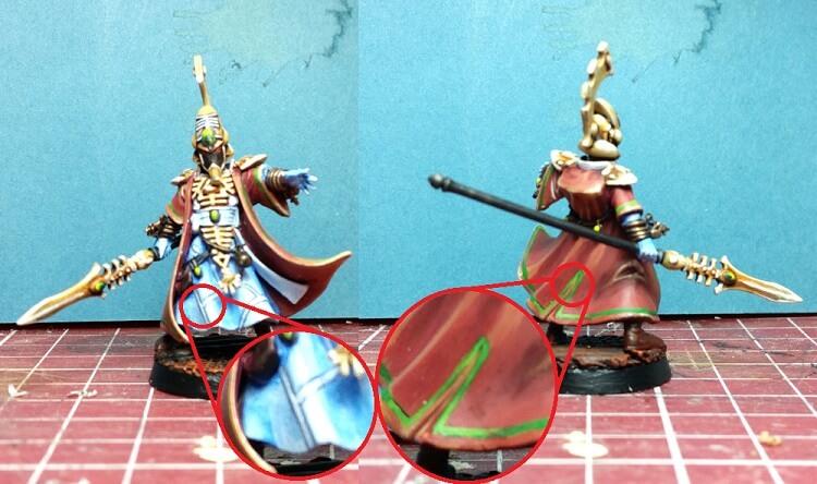 free hand painting eldar aeldari farseer robes tutorial warhammer 40k glazes howto