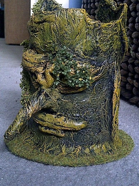 wargame scenery terrain trees made from toilet paper