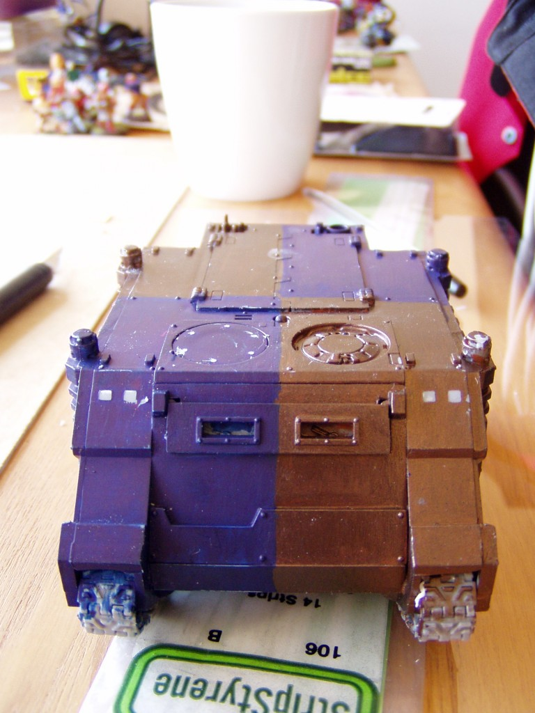howto warhammer 40k rhino extra armour template