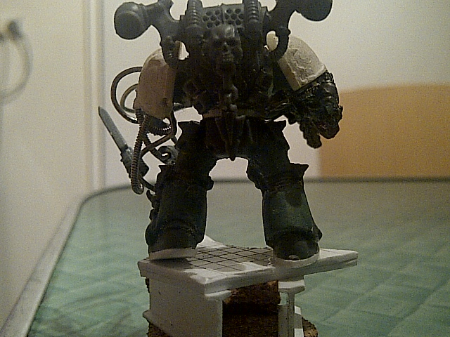 custom Iron Warriors chaos space marine