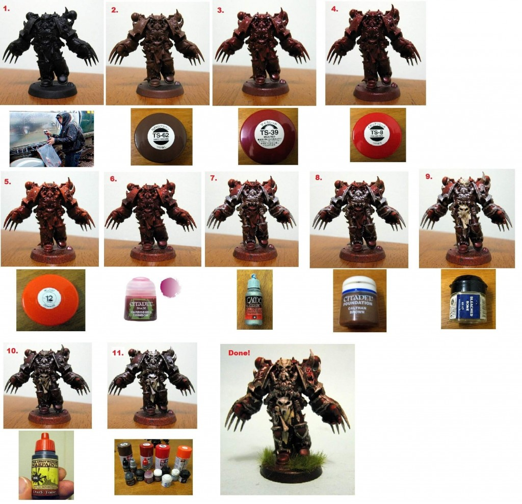 how to paint word bearers using zenithal painting techniques