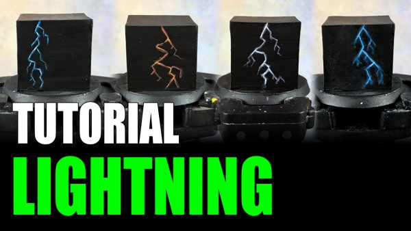 Painting Lightning for Miniatures