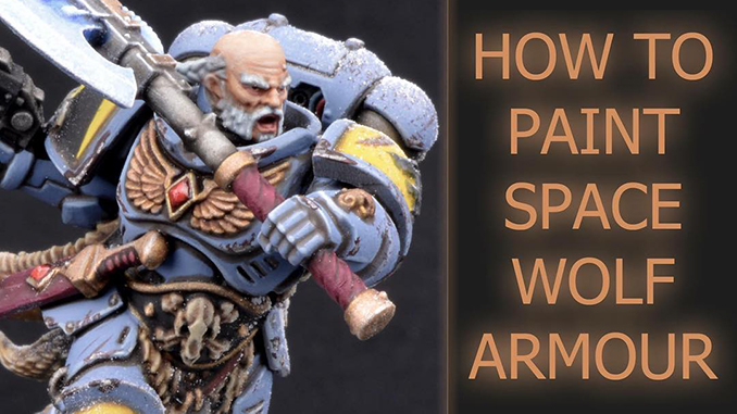 Painting Space Wolves Armor