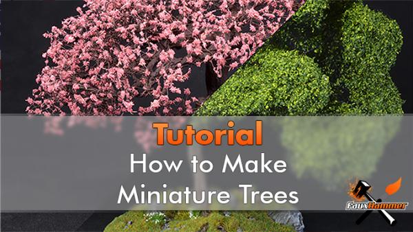 Realistic Miniature Trees