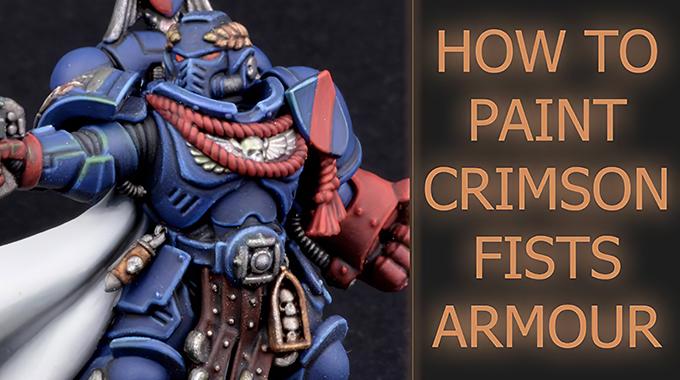 Painting Crimson Fists