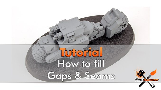 How to fill gaps on miniatures