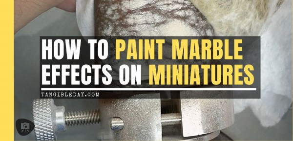 How to Paint Marble Effects on Miniatures (3 Easy Steps)